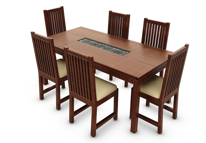 Lauder 6 Seater With Chairs Dining Tables Ediyin : 001 from www.ediy.in size 720 x 500 png 329kB