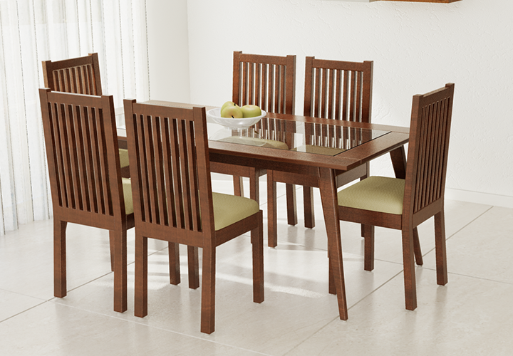 Persson 6 Seater With Chairs Dining Tables Ediyin : 001 from www.ediy.in size 720 x 500 png 483kB