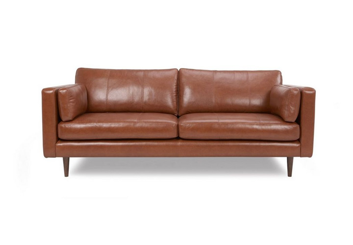 Montana Tan Leather 3 Seater Sofa