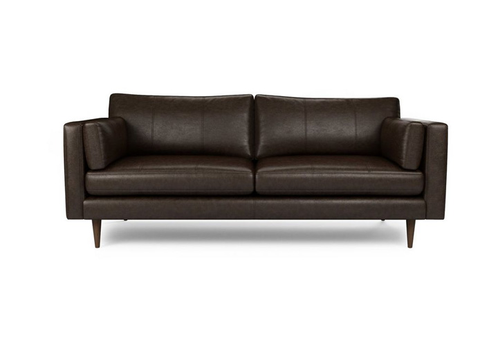 Montana Brown Leather 3 Seater Sofa