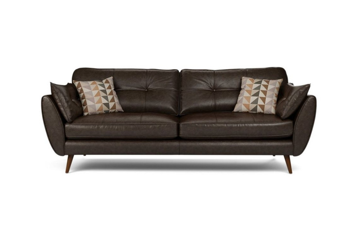 Eternity Brown  Leather 3 Seater Sofa