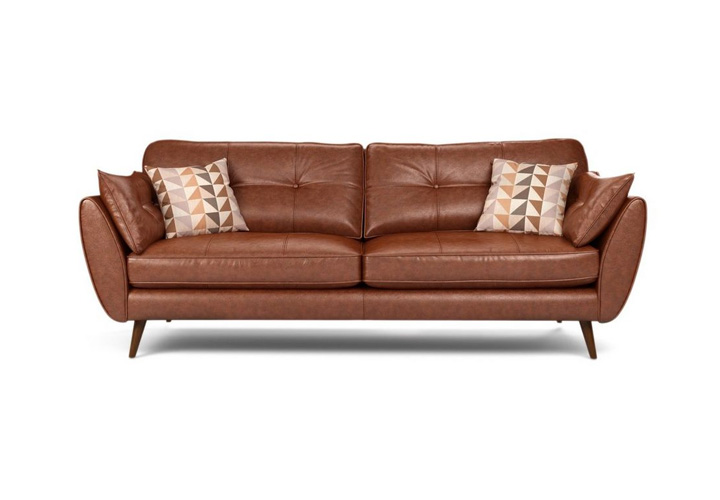 Eternity Tan Leather 3 Seater Sofa