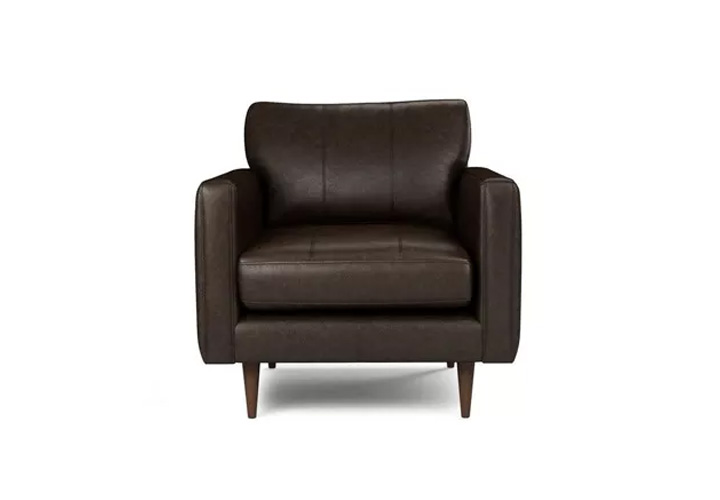 Montana Brown Leather  1 Seater Sofa