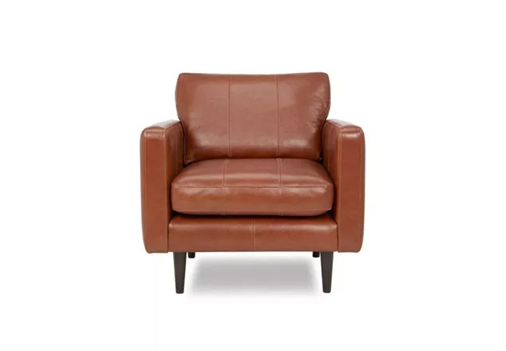 Montana Tan Leather  1 Seater Sofa
