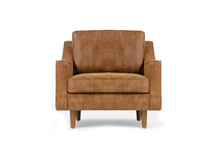 ROB Cognac Leather 1 Seater Sofa