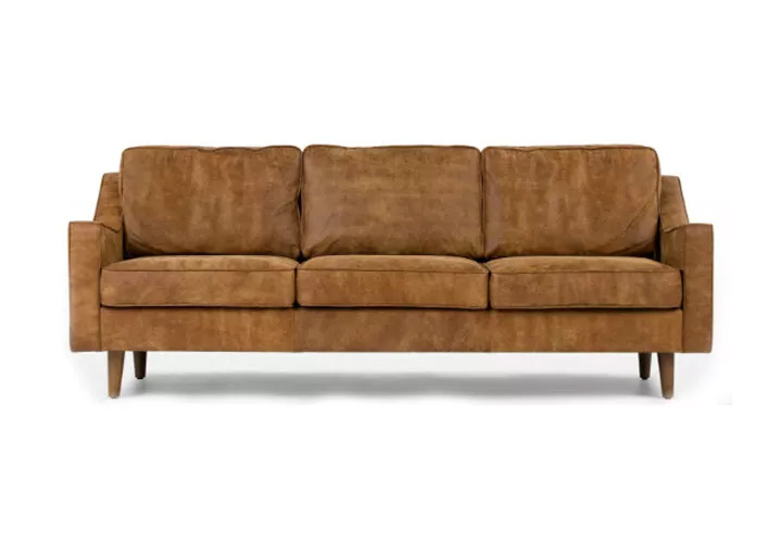 ROB Cognac Leather 3 Seater Sofa