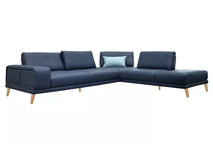 Elite motion Sofa blue leather