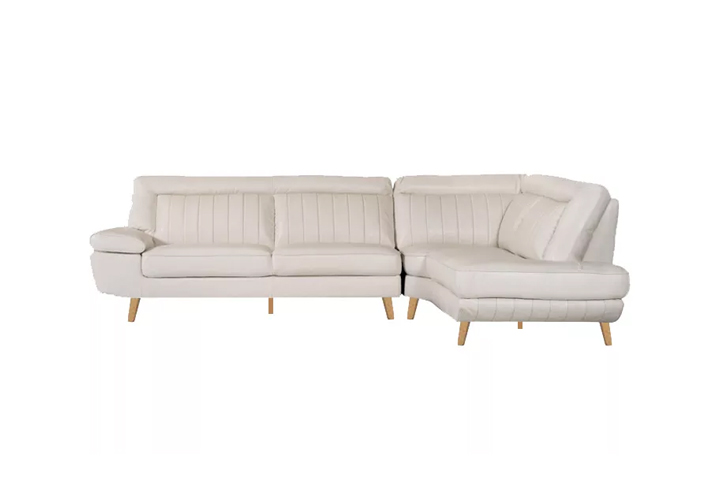 Retro motion Sofa white leather