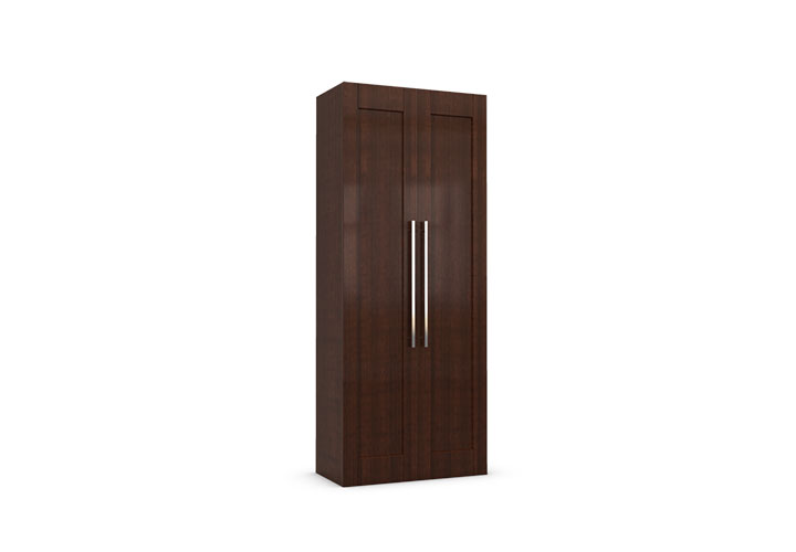 Laminated teak 003 2 door wardrobe laminate for Teak wood doors in visakhapatnam
