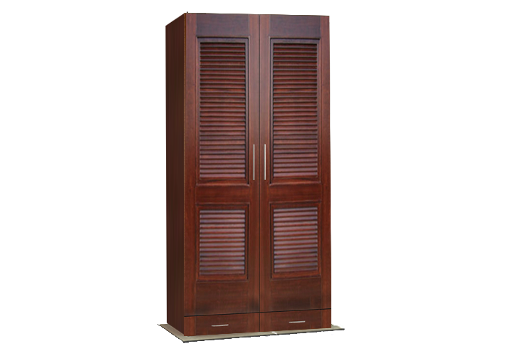 Grey walnut 002 2 door wardrobe laminate for Teak wood doors in visakhapatnam